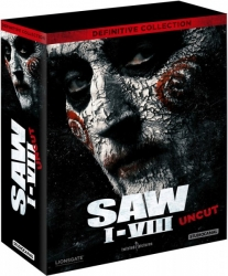 SAW 1-8 (Blu-Ray) - Definitive Collection (9Discs) - Digipak - Uncut Österreich Version